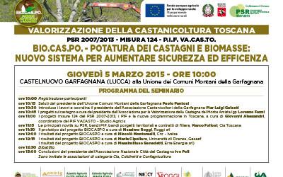 5 marzo 2015, seminario del progetto BIO.CAS.PO. a Castelnuovo Garfagnana (LU)